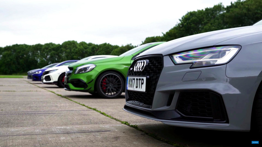 5 Mega Hot Hatches Go Head-To-Head In Drag Races