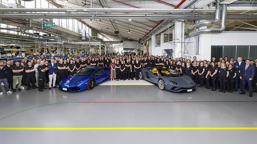Lamborghini Celebrates Making 11,000th Huracan, 8,000th Aventador