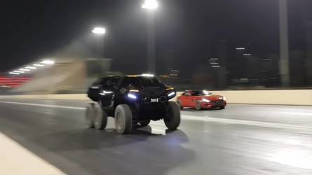 6x6 Devel Sixty Literally Smokes Mercedes-AMG GT S In Drag Race