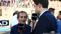 Alain Prost, on the grid