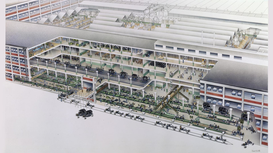 Ford Model T Factory Sketch By David Kimble
