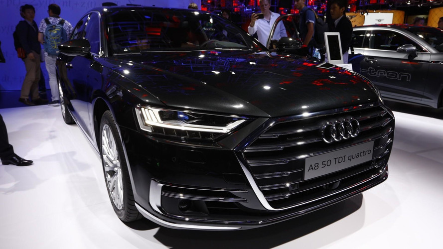 2018 Audi A8, Frankfurt'ta yeni isim yapısını öğretiyor
