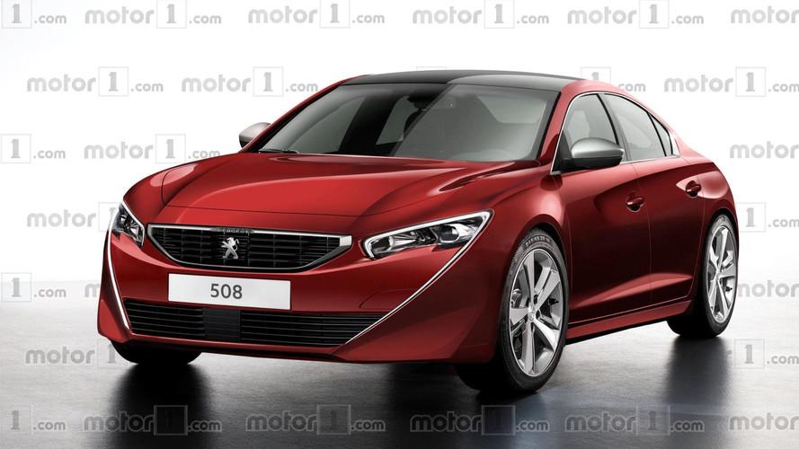 Projeção mostra nova geração do Peugeot 508
