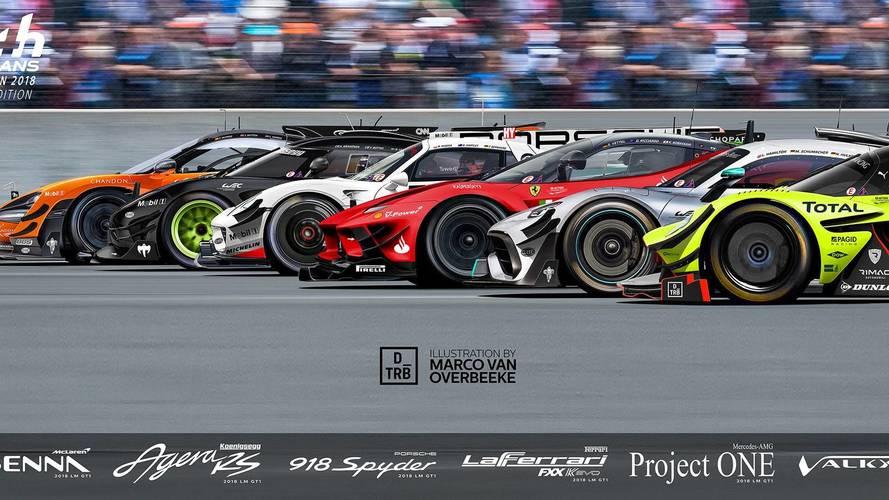 Így mutatna Le Mans-i versenygépként a Ferrari FXX K EVO és társai