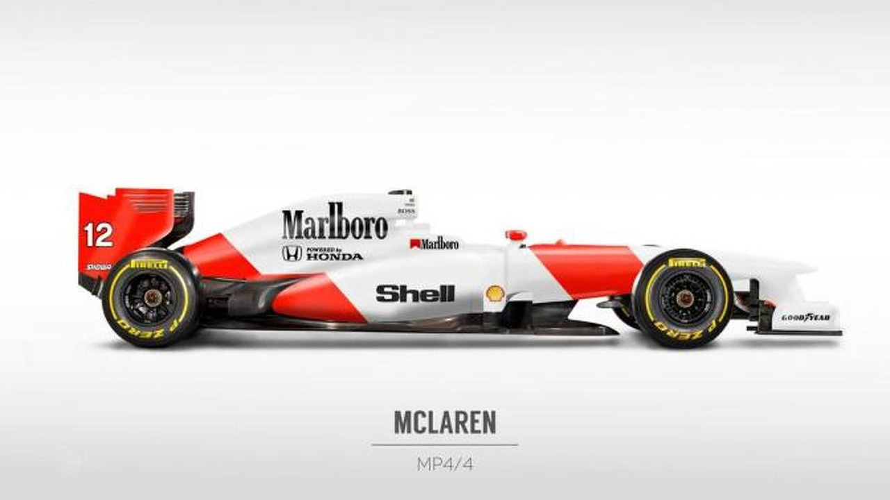 Retro liveries rendered on 2013 Formula 1 cars 22.10.2013
