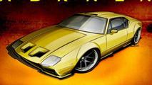 ADRNLN De Tomaso Pantera by Ringbrothers design illustration 04.10.2013