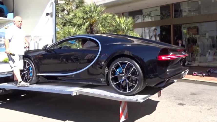Check out Bugatti Chiron unloaded at Monaco dealer