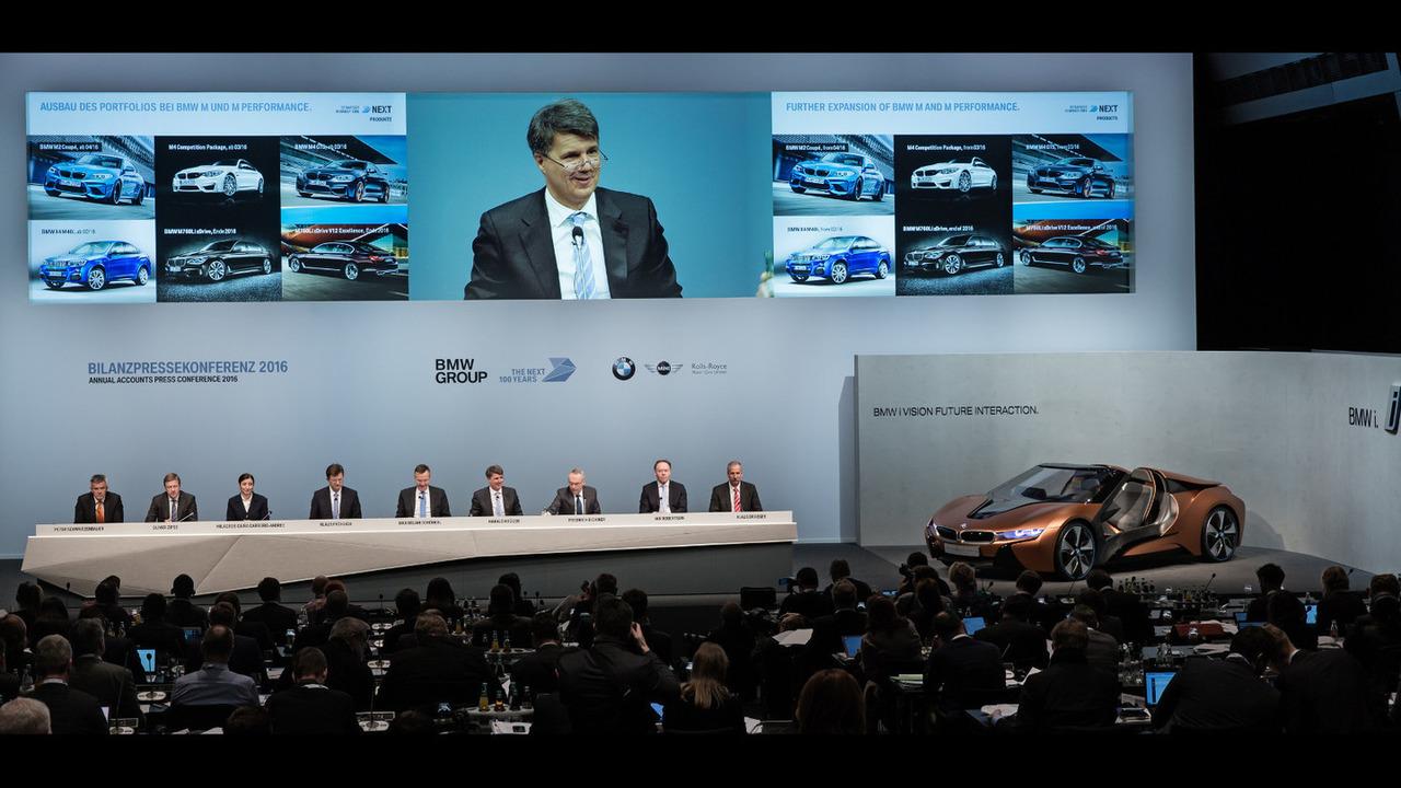 BMW Annual Accounts Press Conference in Munich