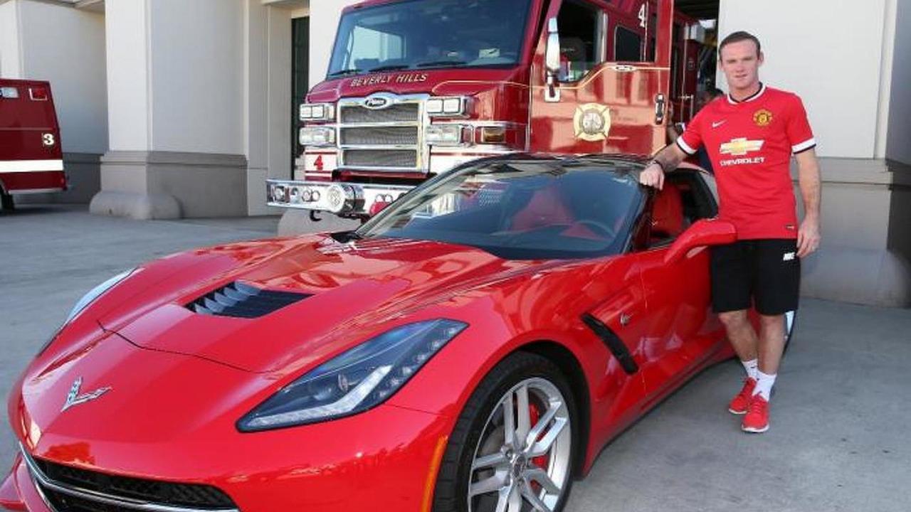Wayne Rooney and Chevrolet Corvette C7 Stingray