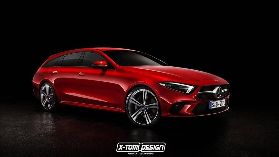 Plusieurs rendus des silhouettes de la nouvelle Mercedes CLS