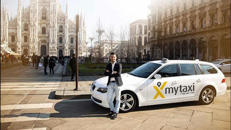 mytaxi, via al servizio a Milano e i taxi costano la metà
