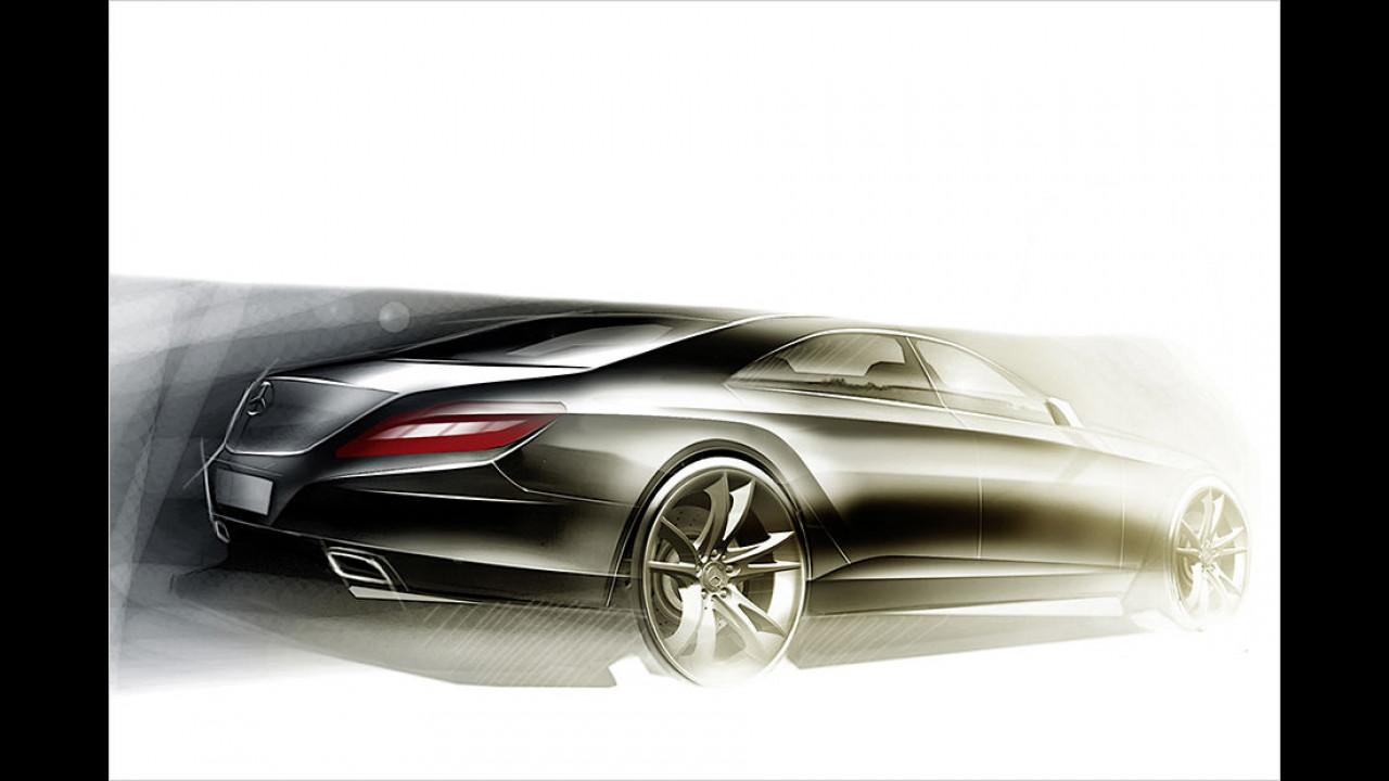 Mercedes W 212 Designskizze