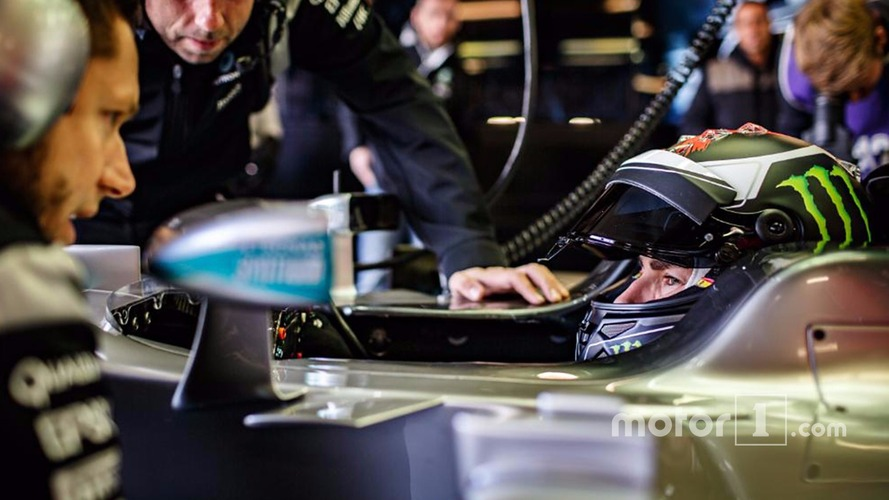Jorge Lorenzo tests Mercedes-AMG F1 car