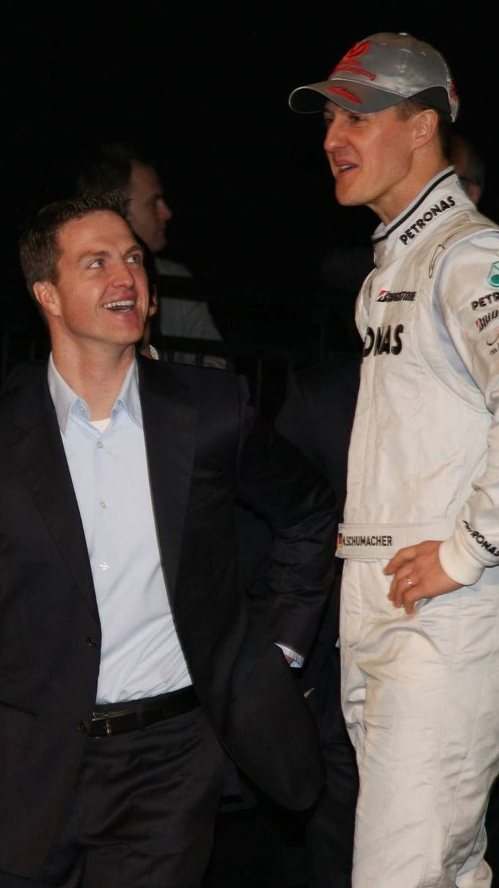 Ralf Schumacher and Michael Schumacher (GER), Mercedes GP Presentation, 25.01.2010 Stuttgart, Germany
