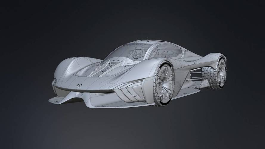 Mercedes C01 Supercar Rendering