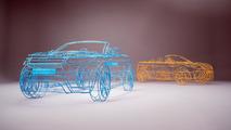 Land Rover Evoque Cabrio wireframe model