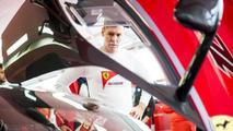 Sebastian Vettel and the Ferrari FXX K