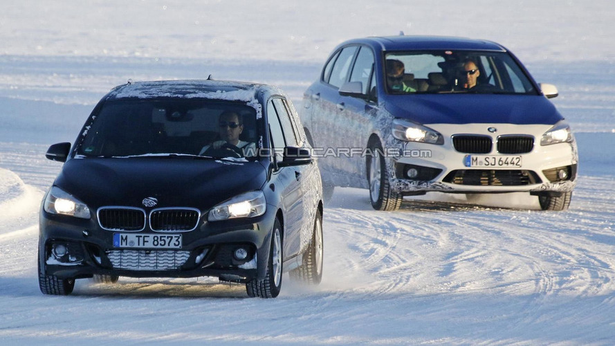 BMW 2-Series Active Tourer seven-seater spied winter testing
