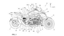 Honda hybrid three-weeler patent image