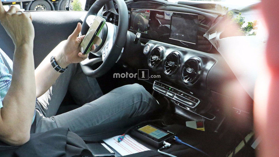 New Mercedes A-Class Caught With Dual Digital Screens