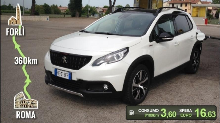 Peugeot 2008 BlueHDi, la prova dei consumi reali