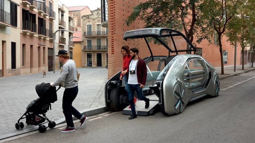 GO is an electric driverless ride-share vehicle by Renault