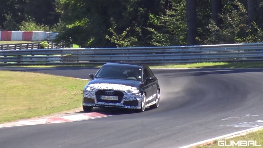 Watch the Audi RS3 Saloon go all out on the Nürburgring