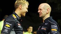 Sebastian Vettel with Adrian Newey 22.09.2013 Singapore Grand Prix
