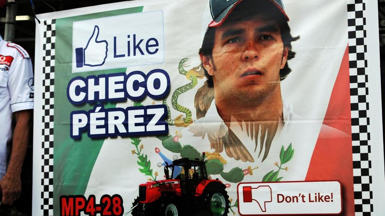 Sergio Perez banner 17.11.2013 United States Grand Prix