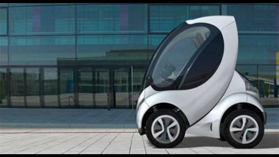 Carro elétrico dobrável pode ser solução para trânsito caótico