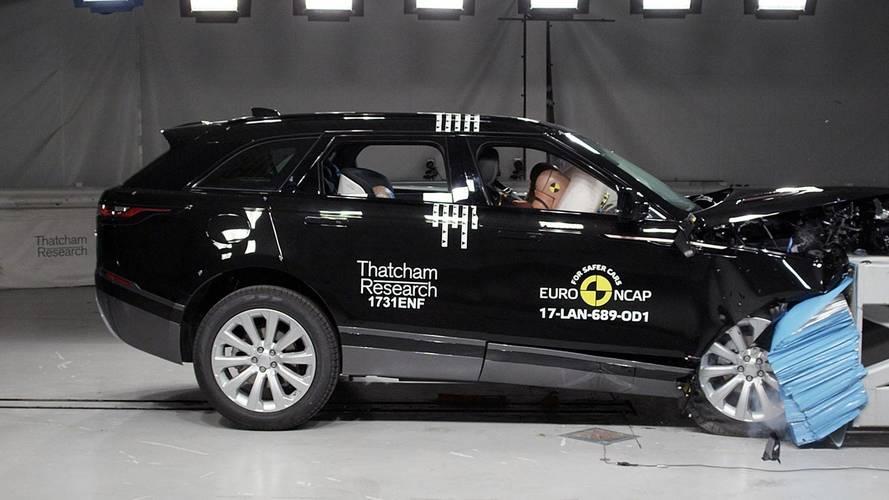 Range Rover Velar conquista 5 estrelas no testes do EuroNCAP