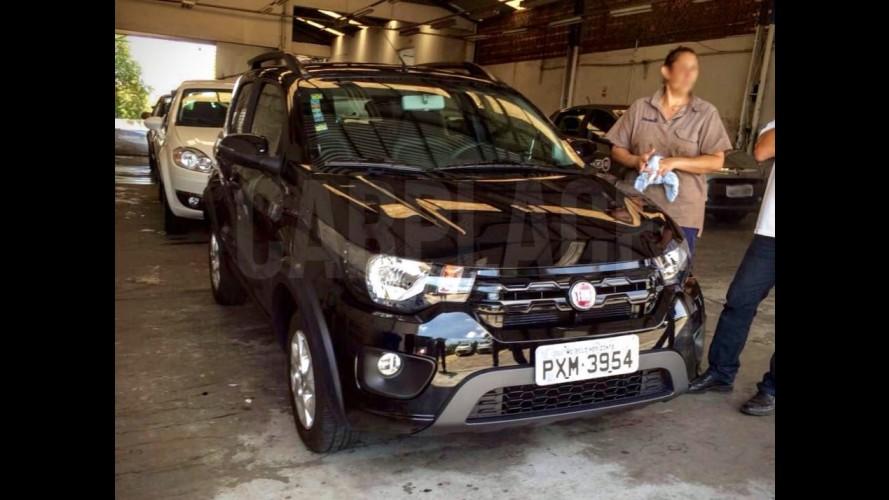 Novo Fiat Mobi: flagra mostra frente e traseira da versão Way