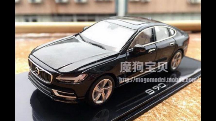 Substituto do S80, Volvo S90 pode ter sido revelado por modelo em escala