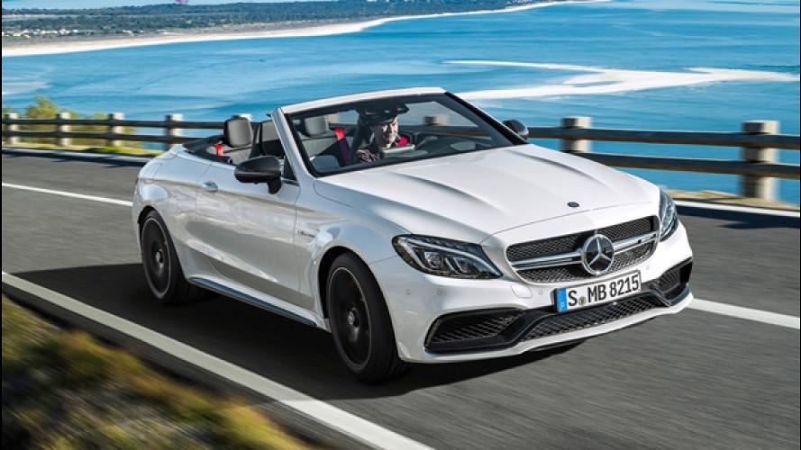 Mercedes-AMG C 63 S Cabrio, l'urlo del V8 turbo