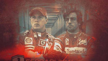 Kimi Raikkonen and Fernando Alonso 2014 artist rendering 17.09.2013