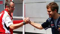 Stefano Domenicali with Sebastian Vettel 30.03.2014 Malaysian Grand Prix