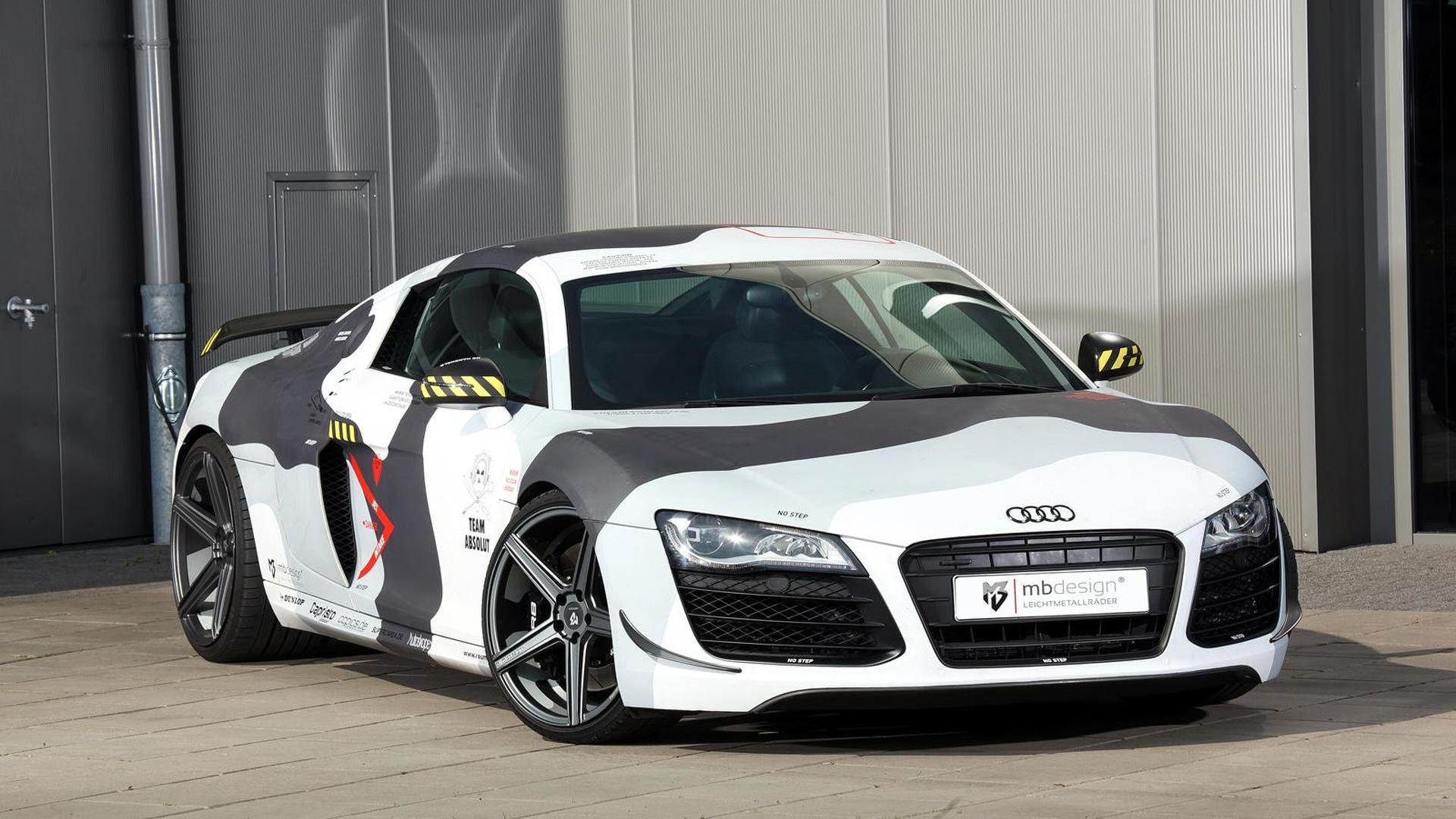 Камуфляж Audi R8 V8. Тюнинг от mbDESIGN