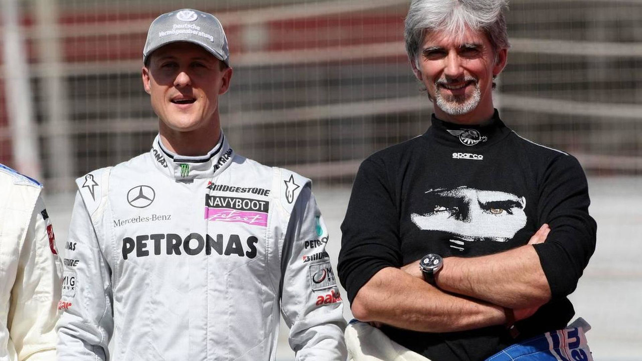 Michael Schumacher (GER), Mercedes GP Petronas, Damon Hill (GBR), 1996 F1 World Champion, Bahrain Grand Prix, 14.03.2010 Sakhir, Bahrain