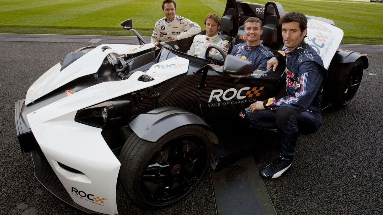KTM X-Bow with Priaulx, Button, Coulthard, Webber