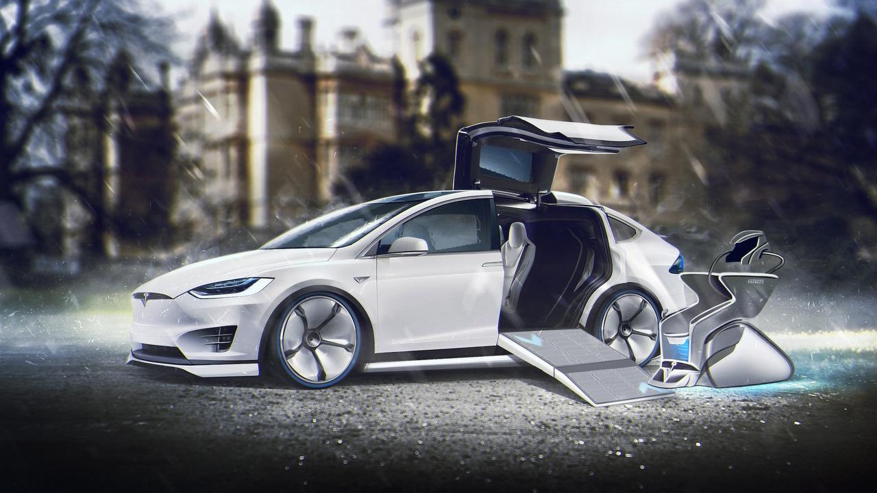 Tesla Model X for Charles Xavier