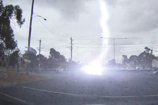 Video of a Car Getting Hit By a Lightning Bolt Will Make Your Jaw Drop