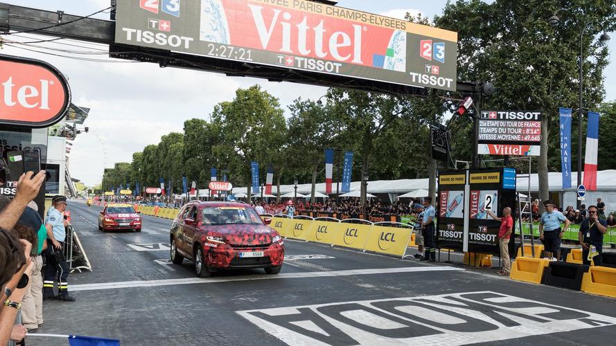 Skoda Kodiaq, Tour de France'ın son etabında görüldü