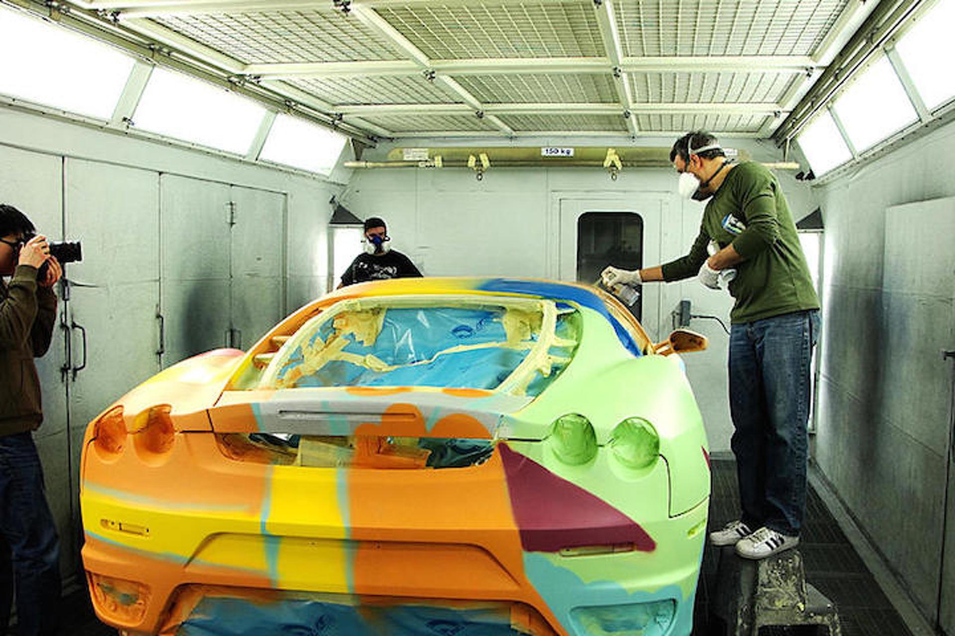 "Ferrari F430 Gets the Art Car Treatment by John ""Crash"" Matos"