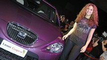 Shakira unveils the SEAT Leon Pies Descalzos in Berlin