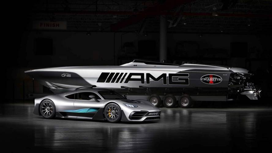 AMG-Inspired Cigarette Racing 515 Project One Goes 140 MPH On Water