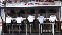 Mercedes AMG F1 pit gantry