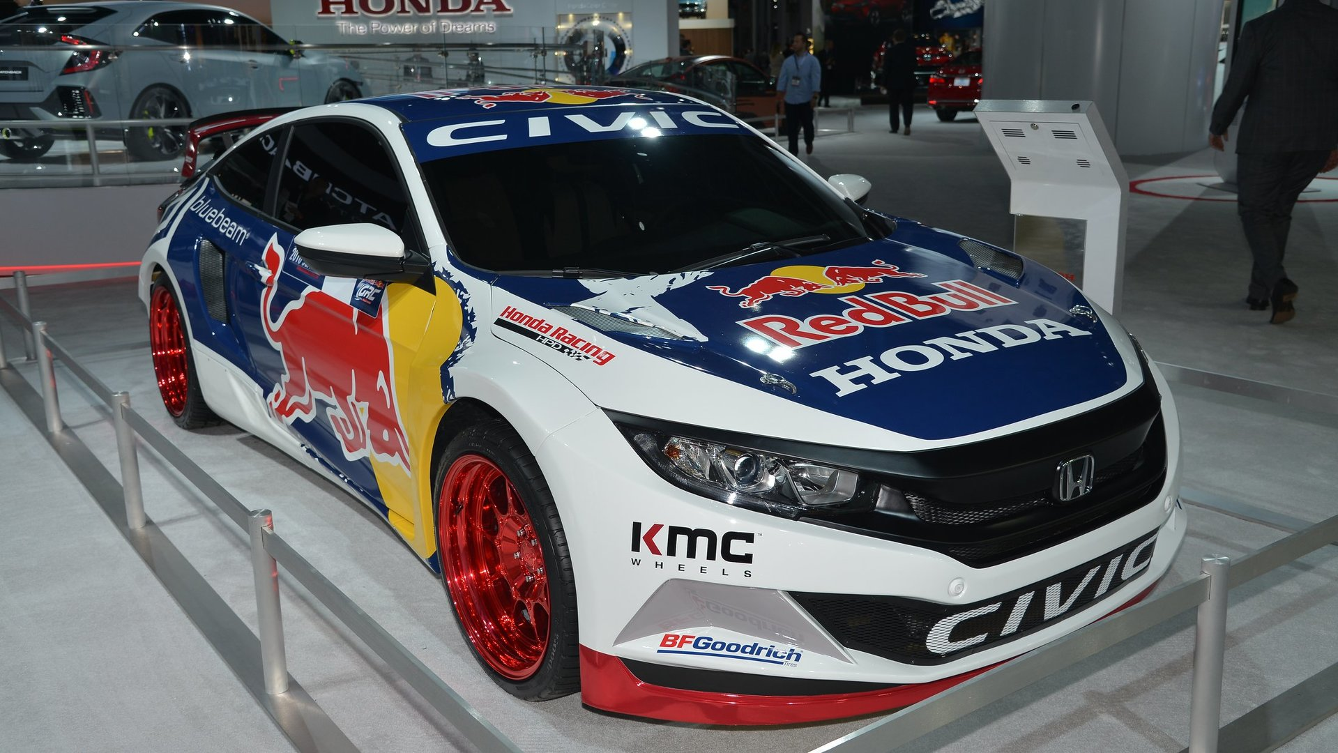 2016 honda civic coupe red bull global rallycross race car debuts in - 2016 Honda Civic Coupe Red Bull Global Rallycross Race Car Debuts In 30