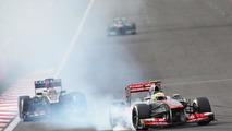 Sergio Perez locks up at turn one 06.10.2013 Korean Grand Prix
