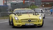 Mercedes SLS AMG Electric Drive spy photo