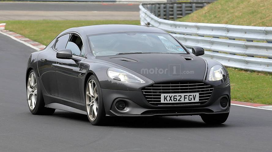 See The 2019 Aston Martin Rapide AMR Being Pushed Hard On Track